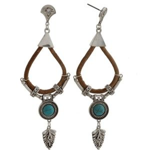 Jewelry - Leather and Arrow Earrings